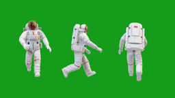 Walking astronaut motion graphics with green screen background Animation