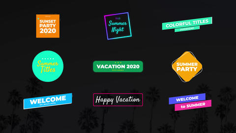 Summer Titles Motion Graphics Template