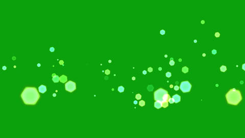 Lens sparkles motion graphics with green screen background CG動画