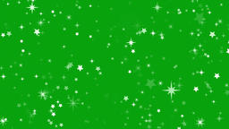 Shining stars through space motion graphics with green screen background Animation