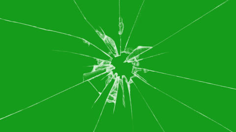 Breaking glass motion graphics with green screen background Animation