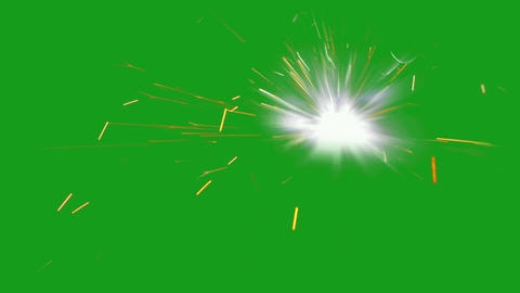 Burning firecracker motion graphics with green screen background Animation