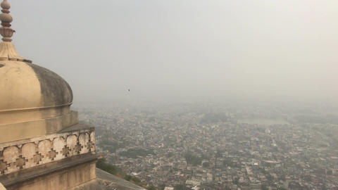 Jaipur, India - View from above the old historic fortress part 18 Live Action