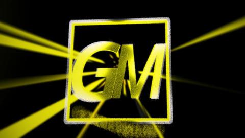 Golden particle rays logo Plantilla de After Effects
