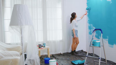 Caucasian woman redecorating Live Action