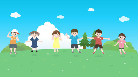 Kids jumping animation Animation