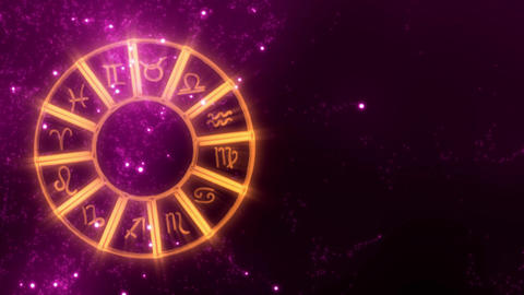 Astrology wheel with magical starfield CG動画
