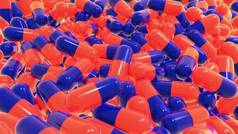 Capsules orange blue CG動画