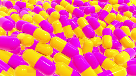 Capsules pink-yellow Animation