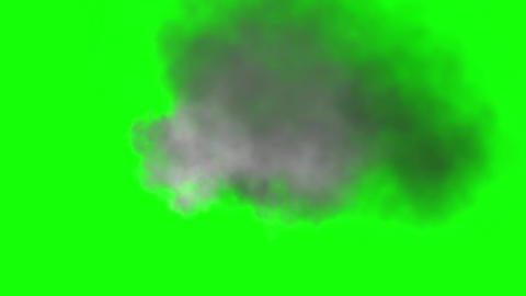 Smoke green screen Animation