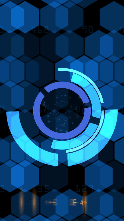 SiFi background blue vertically Animation