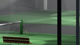 Low Poly Tennis Courts 3D Model