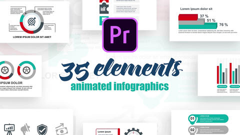Infographics MOGRT vol.36 Motion Graphics Template