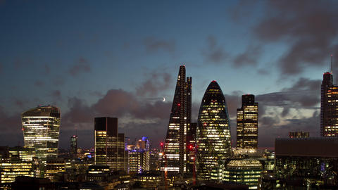 Timelapse video of cityscape, London, England, UK Live Action