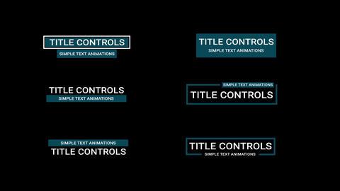 Title Controls モーショングラフィックステンプレート