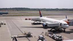 Narita International Airport Terminal 1, Chiba Prefecture, Japan Footage