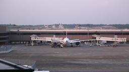 Narita International Airport Terminal 2, Chiba Prefecture, Japan Footage
