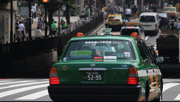 Traffic in Shinjuku area, Tokyo, Japan Footage
