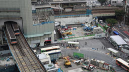 Above view of Shibuya station, Tokyo, Japan Footage