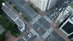 Time Lapse View Of Traffic At Tomisakaue Crossing, Tokyo, Japan Footage