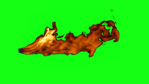 Jet flame with chroma key Acción en vivo