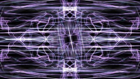 Purple magic antistress patterns, fractal live ornament with rotation segment Animation