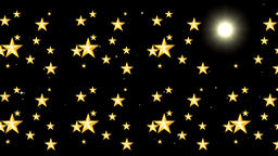 Beautiful golden stars motion graphics with night background CG動画