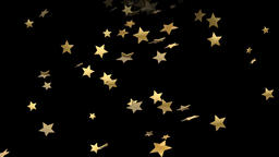 Falling stars motion graphics with night background CG動画