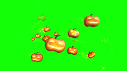 Jack o lanterns motion graphics with green screen background Animation