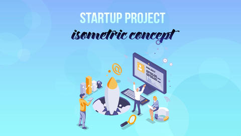 Startup Project - Isometric Concept After Effects Template