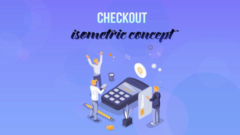 Checkout - Isometric Concept After Effects Template