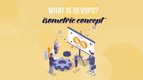 What is Devops - Isometric Concept After Effects Template
