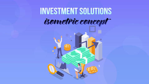Investment Solutions - Isometric Concept After Effects Template
