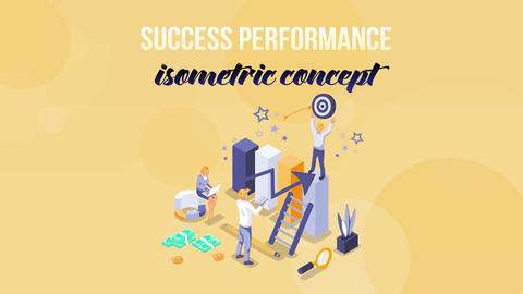 Success Performance - Isometric Concept After Effects Template