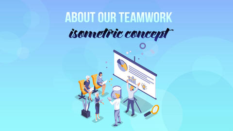 About our teamwork - Isometric Concept After Effects Template