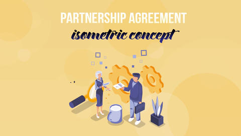 Partnership Agreement - Isometric Concept After Effects Template