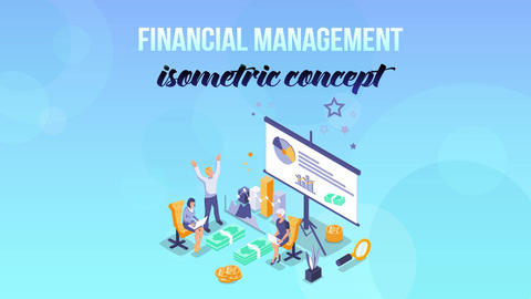 Financial Management - Isometric Concept After Effects Template