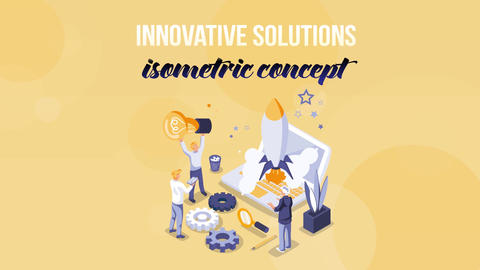Innovative Solutions - Isometric Concept After Effects Template
