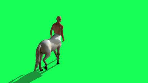 3D Rendering Animation Of Male Centaur Half Horse Half Man on green screen Animation
