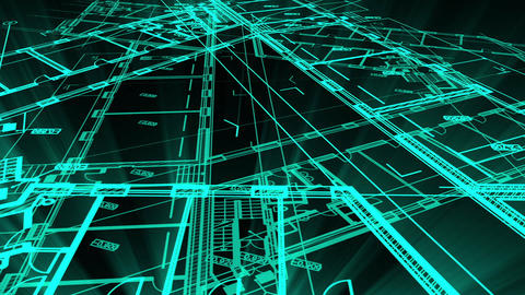 animation showing a Technical Drawing of floor design being drawn with great detail and ready 3d Animation