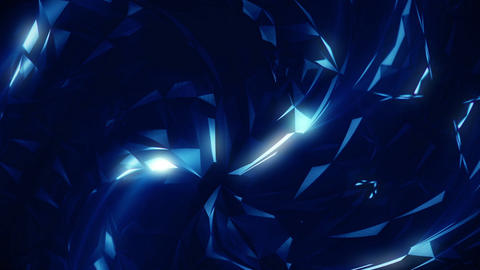 Dark Blue Polygonal Triangles Background Animation