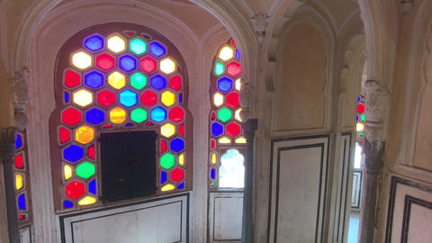 Jaipur, India - interior rooms of the historic palace part 6 Live Action