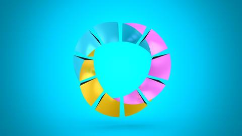 Rotating Geometric Shape CG動画