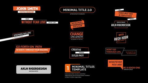 Minimal Titles Motion Graphics Template