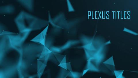 Plexus Titles me Plantilla de After Effects