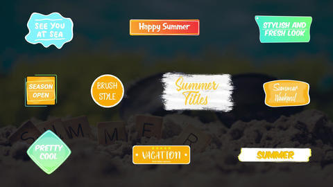 Colorful Summer Titles Plantilla de After Effects