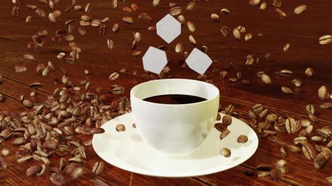 Cup of coffee CG動画