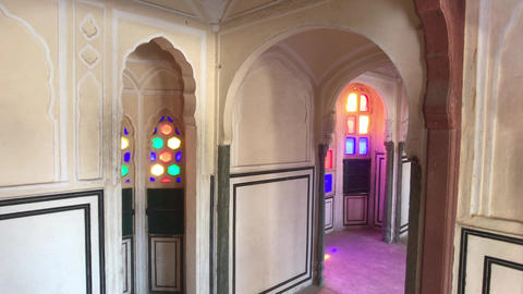 Jaipur, India - interior rooms of the historic palace part 2 Live Action