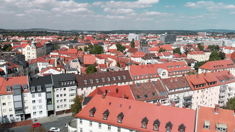 Bamberg in summer season, Germany. View from drone Live Action