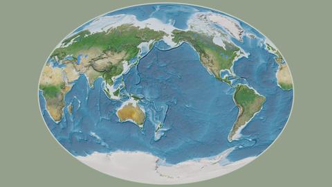 Cape Verde - hub of the world. Satellite Animation
